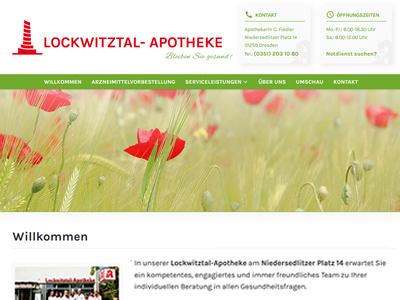 Website Homepage CMS Apotheke Dresden