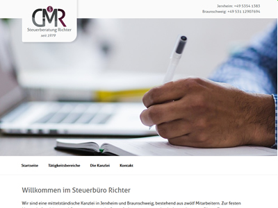 Website Homepage CMS Steuerbuero Richter
